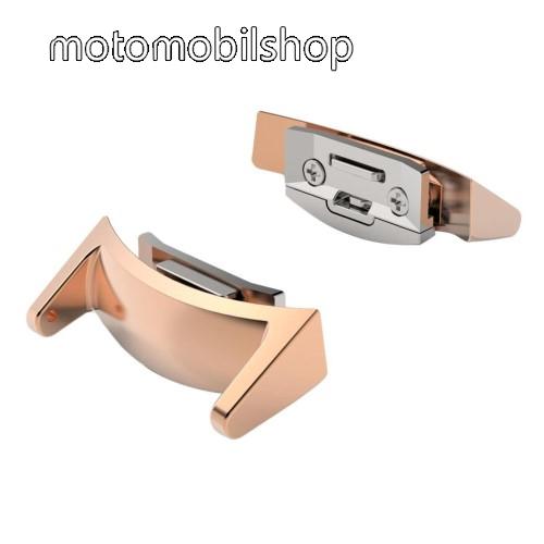 Okosóra fém csatlakozó - 2db - ROSE GOLD - SAMSUNG SM-R720 Gear S2
