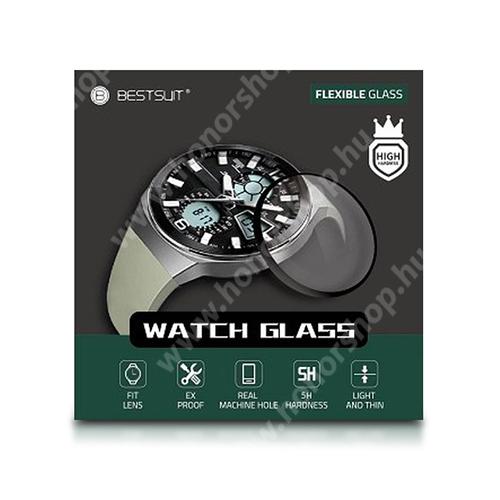 Okosóra Flexible 5H Nano Glass rugalmas edzett üveg - 0.2mm, 5H, A képernyő sík részét védi - HUAWEI Watch GT 2 46mm / HONOR Magicwatch 2 46mm