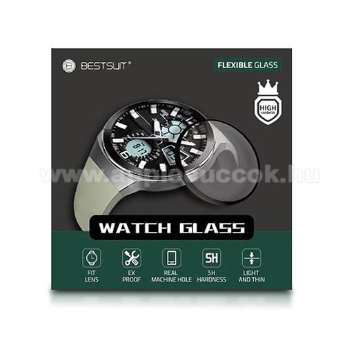 Okosóra Flexible 5H Nano Glass rugalmas edzett üveg - 0.2mm, 5H, A képernyő sík részét védi - HUAWEI Watch GT 2 46mm
