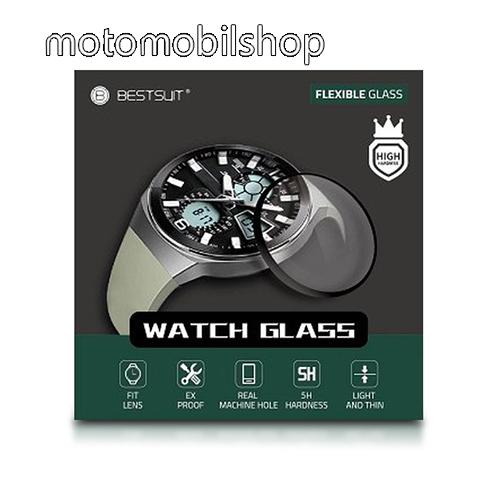 Okosóra Flexible 5H Nano Glass rugalmas edzett üveg - 0.2mm, 5H, A képernyő sík részét védi - HUAWEI Watch GT
