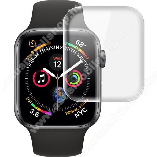 Okosóra IMAK HD Hydrogel Protector képernyővédő fólia - CLEAR - 2db, 0,15 mm - A TELJES ELŐLAPOT VÉDI! - APPLE Watch Series 4 40mm / Apple Watch Series 5 40mm - GYÁRI