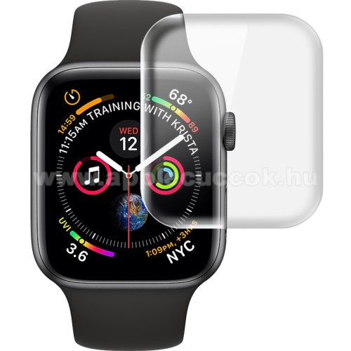 APPLE Watch Series 4 40mm Okosóra IMAK HD Hydrogel Protector képernyővédő fólia - CLEAR - 2db, 0,15 mm - A TELJES ELŐLAPOT VÉDI! - APPLE Watch Series 4 40mm / Apple Watch Series 5 40mm - GYÁRI