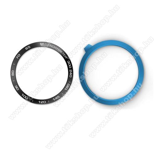 Okosóra lünetta védő alumínium - a másodpercmutató segítségével a tachymeter skáláról leolvashatod az óránkénti átlagsebességet - FEKETE - SAMSUNG Galaxy Watch 46mm