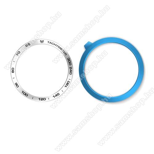 SAMSUNG Galaxy Watch 46mm (SM-R800NZ)Okosóra lünetta védő alumínium - a másodpercmutató segítségével a tachymeter skáláról leolvashatod az óránkénti átlagsebességet - EZÜST - SAMSUNG Galaxy Watch 46mm