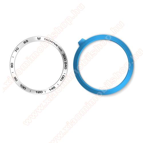 Okosóra lünetta védő alumínium - a másodpercmutató segítségével a tachymeter skáláról leolvashatod az óránkénti átlagsebességet - EZÜST - SAMSUNG Galaxy Watch 46mm