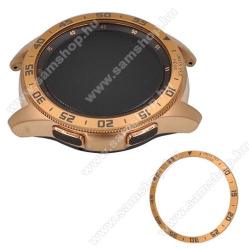 Okosóra lünetta védő alumínium - ARANY - SAMSUNG Galaxy Watch 46mm