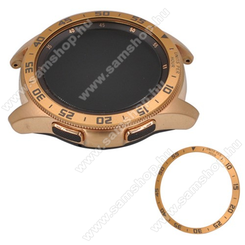 Okosóra lünetta védő alumínium - ARANY - SAMSUNG Galaxy Watch 42mm