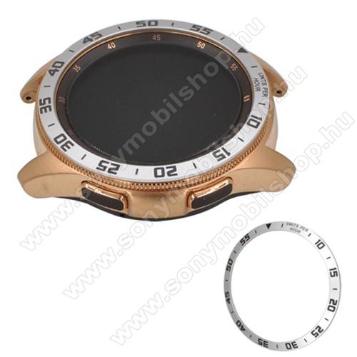 Okosóra lünetta védő alumínium - EZÜST - SAMSUNG Galaxy Watch 46mm