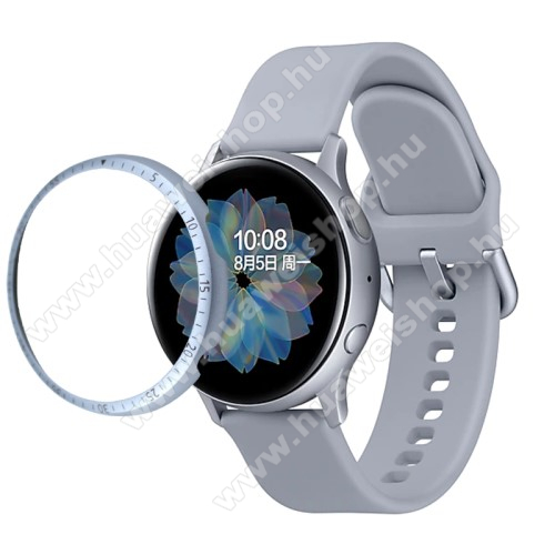 Okosóra lünetta védő alumínium - EZÜST - SAMSUNG Galaxy Watch Active2 44mm