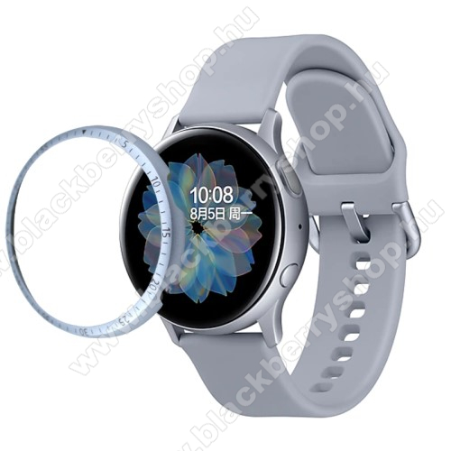 Okosóra lünetta védő alumínium - EZÜST - SAMSUNG Galaxy Watch Active2 40mm