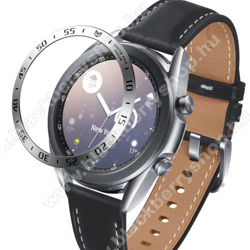Okosóra lünetta védő alumínium - EZÜST - SAMSUNG Galaxy Watch3 41mm (SM-R855F)