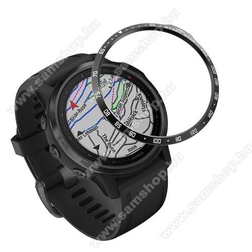 Okosóra lünetta védő alumínium - FEKETE - Garmin Fenix 6S / 6S Pro / 6S Sapphire