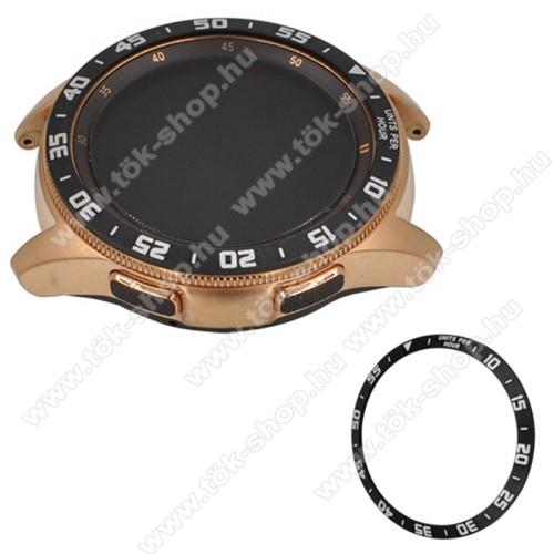 Okosóra lünetta védő alumínium - FEKETE - SAMSUNG Galaxy Watch 46mm