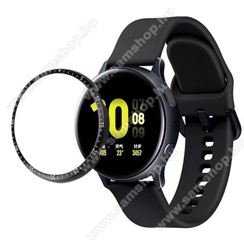 SAMSUNG Galaxy Watch Active2 44mmOkosóra lünetta védő alumínium - FEKETE - SAMSUNG Galaxy Watch Active2 44mm