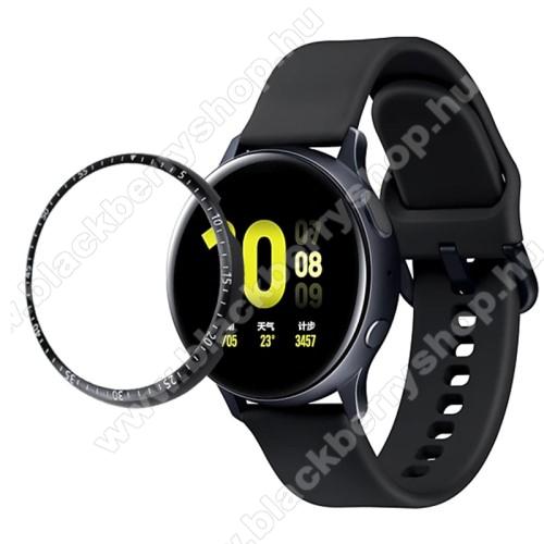 Okosóra lünetta védő alumínium - FEKETE - SAMSUNG Galaxy Watch Active2 44mm