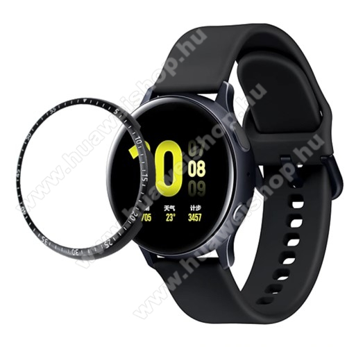 Okosóra lünetta védő alumínium - FEKETE - SAMSUNG Galaxy Watch Active2 40mm