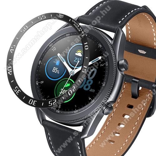 SAMSUNG Galaxy Watch3 45mm (SM-R845F)Okosóra lünetta védő alumínium - FEKETE - SAMSUNG Galaxy Watch3 45mm (SM-R845F)