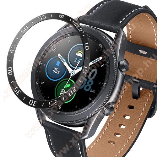 Okosóra lünetta védő alumínium - FEKETE - SAMSUNG Galaxy Watch3 45mm (SM-R845F)