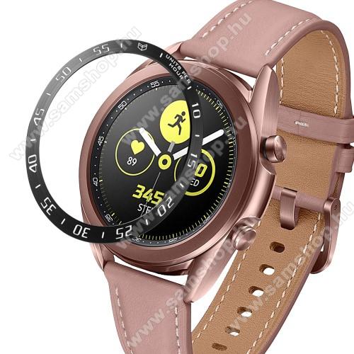 SAMSUNG Galaxy Watch3 41mm (SM-R855F)Okosóra lünetta védő alumínium - FEKETE - SAMSUNG Galaxy Watch3 41mm (SM-R855F)