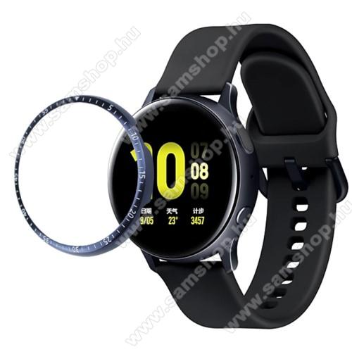 Okosóra lünetta védő alumínium - KÉK - SAMSUNG Galaxy Watch Active2 44mm