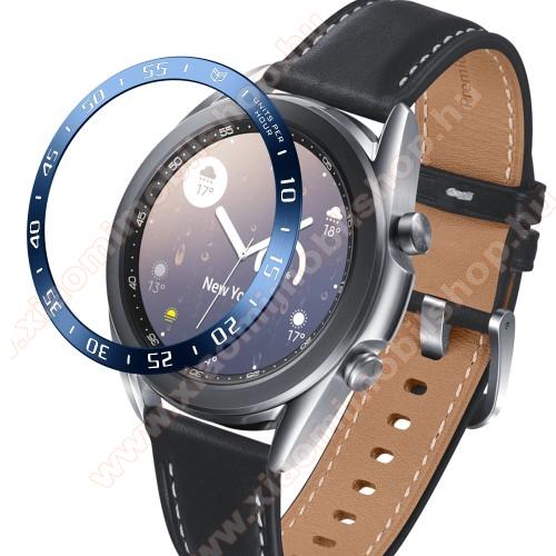 Okosóra lünetta védő alumínium - KÉK - SAMSUNG Galaxy Watch3 41mm (SM-R855F)