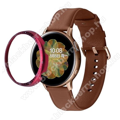 Okosóra lünetta védő alumínium - PIROS - SAMSUNG Galaxy Watch Active2 44mm