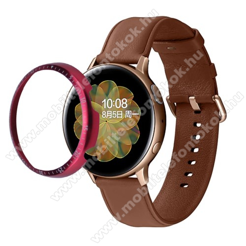Okosóra lünetta védő alumínium - PIROS - SAMSUNG Galaxy Watch Active2 40mm