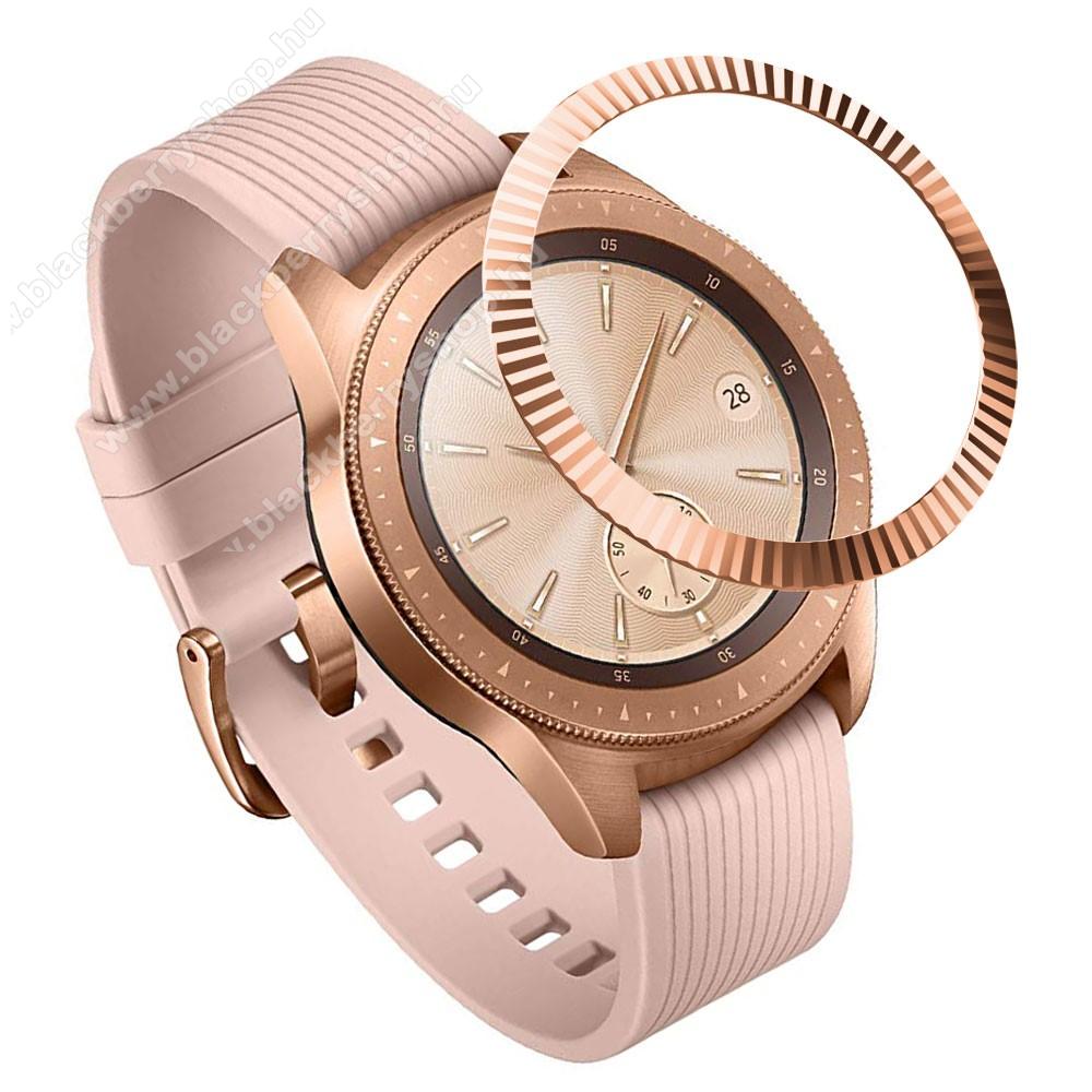 Okosóra lünetta védő alumínium - ROSE GOLD - SAMSUNG Galaxy Watch 42mm