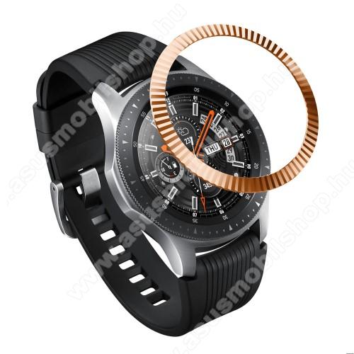 Okosóra lünetta védő alumínium - ROSE GOLD- SAMSUNG Galaxy Watch 46mm