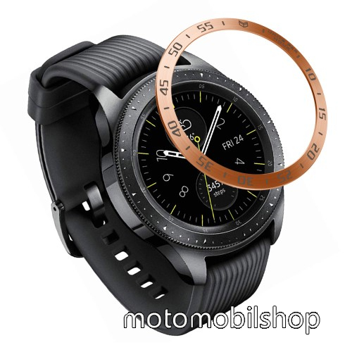 Okosóra lünetta védő alumínium - ROSE GOLD - SAMSUNG Galaxy Watch 42mm