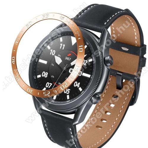Okosóra lünetta védő alumínium - ROSE GOLD - SAMSUNG Galaxy Watch3 45mm (SM-R845F)