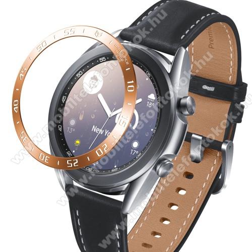 Okosóra lünetta védő alumínium - ROSE  GOLD - SAMSUNG Galaxy Watch3 41mm (SM-R855F)