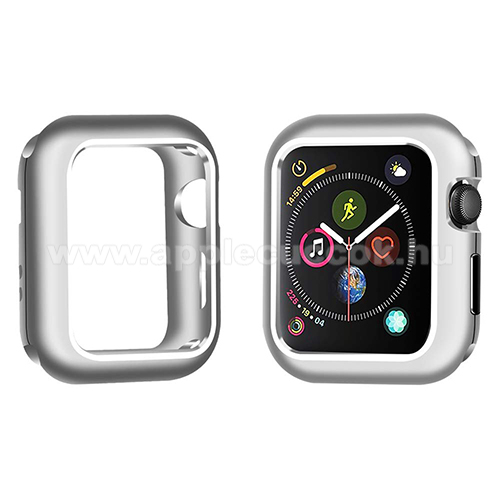 APPLE Watch Series 4 40mm Okosóra mágneses alumínium védő keret - EZÜST - APPLE Watch Series 5 40mm / APPLE Watch Series 4 40mm
