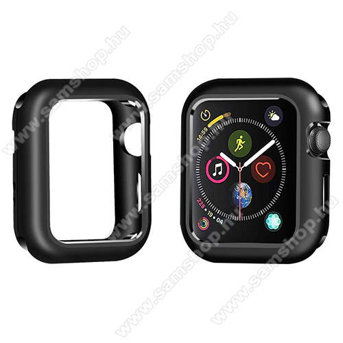 Okosóra mágneses alumínium védő keret - FEKETE - APPLE Watch Series 5 40mm / APPLE Watch Series 4 40mm