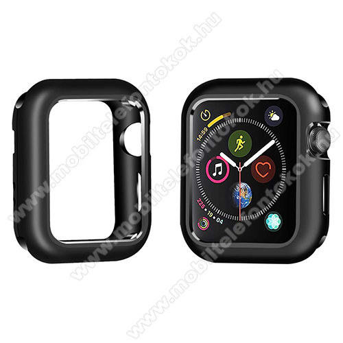 APPLE Watch SE 40mm Okosóra mágneses alumínium védő keret - FEKETE - APPLE Watch Series 5 40mm / APPLE Watch Series 4 40mm