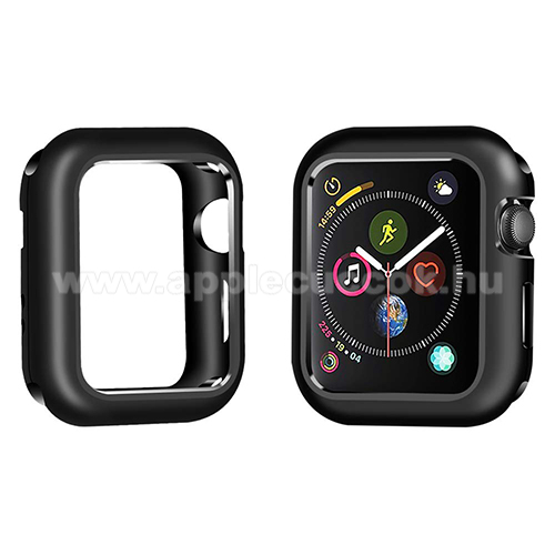APPLE Watch Series 6 44mm Okosóra mágneses alumínium védő keret - FEKETE - APPLE Watch Series 4 44mm / APPLE Watch Series 5 44mm
