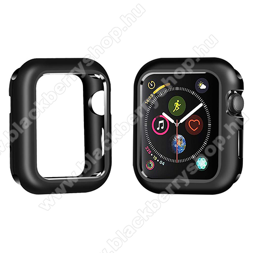 Okosóra mágneses alumínium védő keret - FEKETE - APPLE Watch Series 4 44mm / APPLE Watch Series 5 44mm