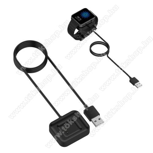 Okosóra mágneses USB töltő - 1m - FEKETE - Xiaomi Mi Watch (For China Market)
