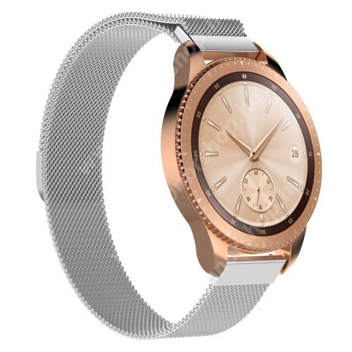 HUAWEI Honor MagicWatch 2 42mm Okosóra milánói szíj - rozsdamentes acél, mágneses - 215mm hosszú, 20mm széles - EZÜST - SAMSUNG Galaxy Watch 42mm / Xiaomi Amazfit GTS / SAMSUNG Gear S2 / HUAWEI Watch GT 2 42mm / Galaxy Watch Active / Active 2