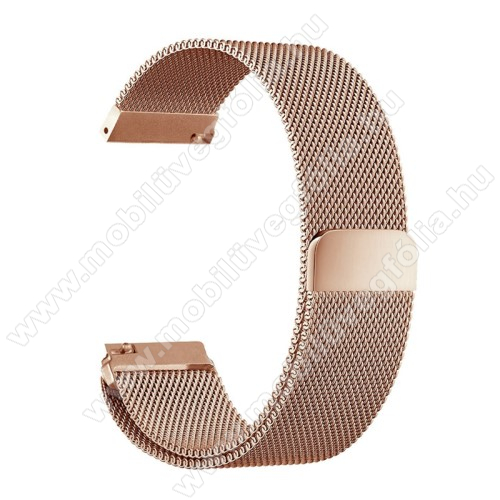 HUAWEI Honor MagicWatch 2 46mmOkosóra milánói szíj - rozsdamentes acél, mágneses - 235mm hosszú, 22mm széles - ROSE GOLD - HUAWEI Watch GT / HUAWEI Watch Magic / Watch GT 2 46mm
