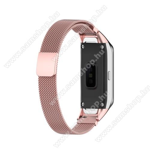 SAMSUNG Galaxy Fit (SM-R370)Okosóra milánói szíj - rozsdamentes acél, mágneses - ROSE GOLD - SAMSUNG SM-R370 Galaxy Fit
