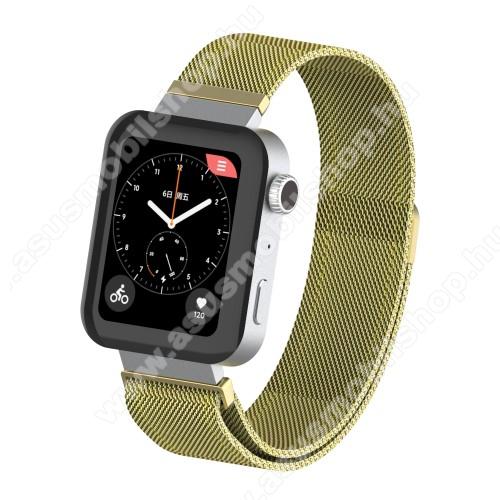 Okosóra milánói szíj - rozsdamentes acél, mágneses - 230mm hosszú, 160-270mm átmérőjű csuklóméretig - ARANY - Xiaomi Mi Watch