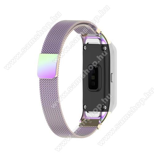 SAMSUNG Galaxy Fit (SM-R370)Okosóra milánói szíj - rozsdamentes acél, mágneses - LILA - SAMSUNG SM-R370 Galaxy Fit