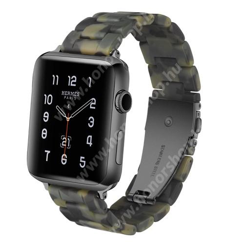 HUAWEI Watch GT 2 46mm Okosóra műanyag szíj - 220mm hosszú, 22mm széles - TEREPMINTÁS - HUAWEI Watch GT / HUAWEI Watch Magic / Watch GT 2 46mm / Honor MagicWatch 2 46mm