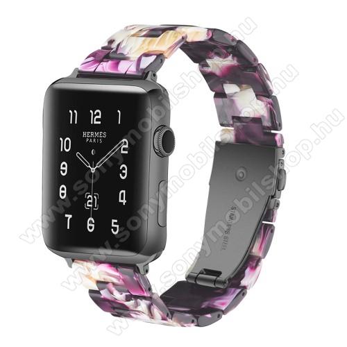Okosóra műanyag szíj - 220mm hosszú, 22mm széles - LILA - HUAWEI Watch GT / HUAWEI Watch Magic / Watch GT 2 46mm / Honor MagicWatch 2 46mm