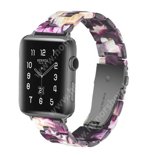 HUAWEI Watch GT 2 46mm Okosóra műanyag szíj - 220mm hosszú, 22mm széles - LILA - HUAWEI Watch GT / HUAWEI Watch Magic / Watch GT 2 46mm / Honor MagicWatch 2 46mm