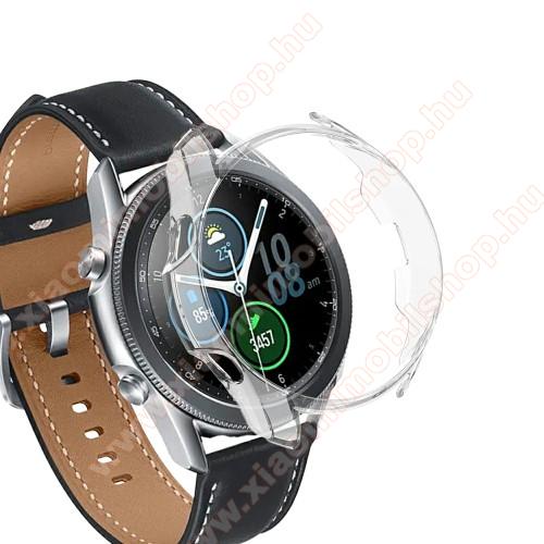 Okosóra műanyag védő tok / keret - ÁTLÁTSZÓ - SAMSUNG Galaxy Watch3 45mm (SM-R845F)