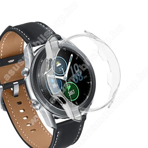 Okosóra műanyag védő tok / keret - ÁTLÁTSZÓ - SAMSUNG Galaxy Watch3 41mm (SM-R855F)