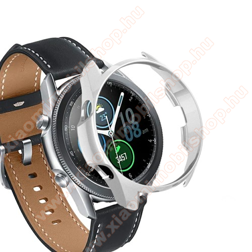 Okosóra műanyag védő tok / keret - EZÜST - SAMSUNG Galaxy Watch3 45mm (SM-R845F)