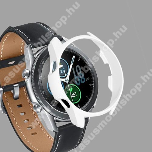 Okosóra műanyag védő tok / keret - FEHÉR - SAMSUNG Galaxy Watch3 41mm (SM-R855F)